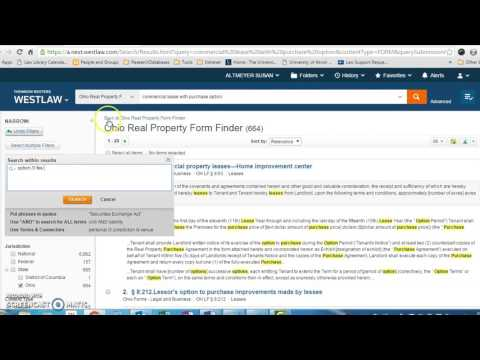 Finding Forms on Westlaw