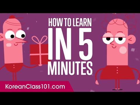 How to Learn Korean in 5 Minutes