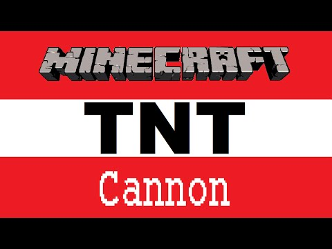 Minecraft PS4: Simple TNT Cannon Tutorial