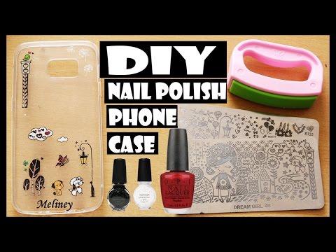 DIY NAIL POLISH PHONE CASE WITH KONAD STAMPING NAIL ART KIT | MELINEY HOW TO DESIGN TUTORIAL