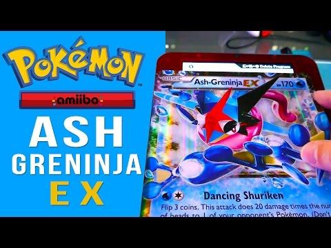 World's FIRST Pokemon Card Amiibo - MEGA Ash-Greninja EX