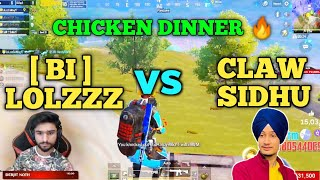 Team bi vs claw sidhu 🔥 full intense fight in the last zone for chicken dinner | Pubg emulator