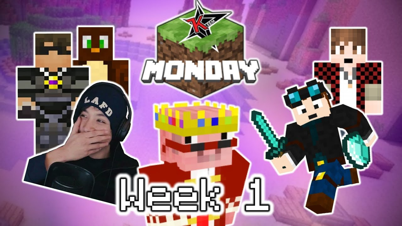 YouTubers React To Technoblade's Debut in Minecraft Monday (Week 1)