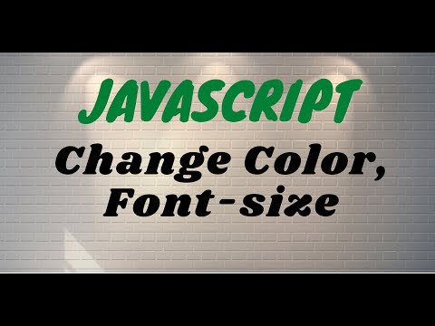 Javascript change font color size