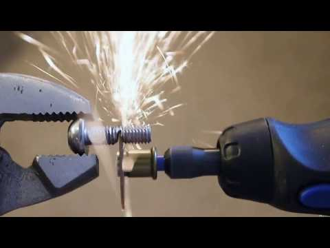 Cordless Dremel Tool vs. Metal Bolt