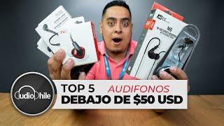TOP 5 de los Mejores Audífonos por debajo de $50 USD