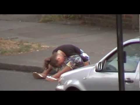 Drunk Girl on the Road