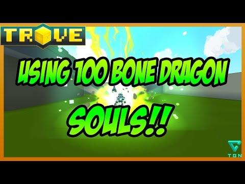 Trove: USING 100 BONE DRAGON SOULS!! (PTS)