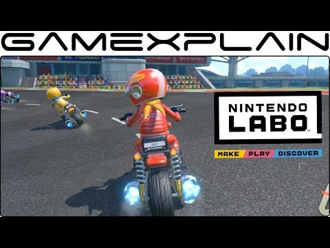 Nintendo Labo Motorbike Gameplay (Racing + Track Creator!)
