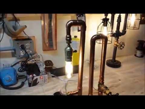 Copper Steampunk Lamp