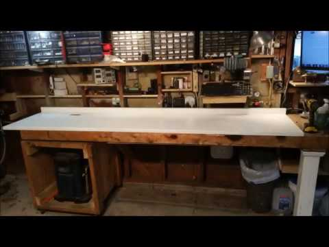 My new solid surface workbench