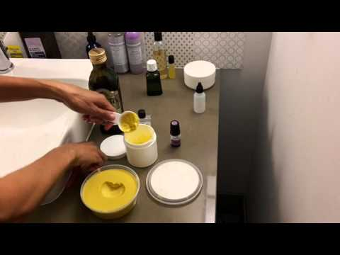 DIY Shea butter,  Organic Olive oil, Lavender Essential Oil Hair and Skin Care Recipe