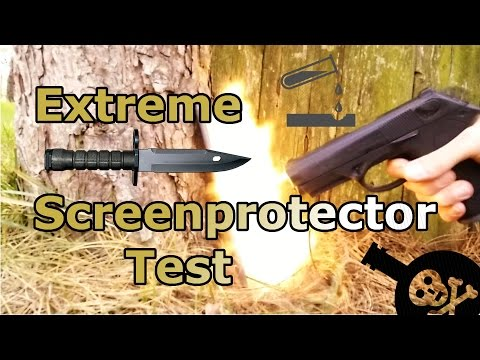 Tempered Glass Extreme Screen Protector Test - Shoot , Acid and Scratch Test - Aukey Review [HD]