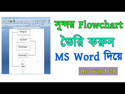 How to create a flowchart in just 2 minutes with MS Word !! Nil Fagun11
