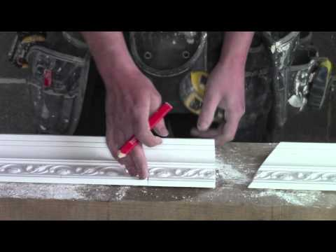 Plaster Coving Installation - Balancing A Mitre