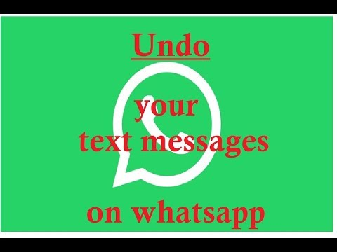 Use recall messages on whatsapp