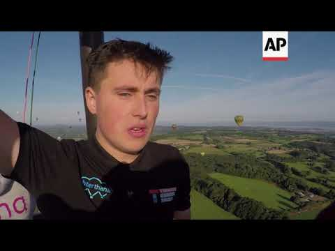 Hundreds of balloons crowd skies at largest annual Europe event