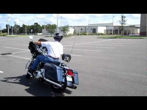Riding a Harley Davidson Street Glide through the Ride Like a Pro Course