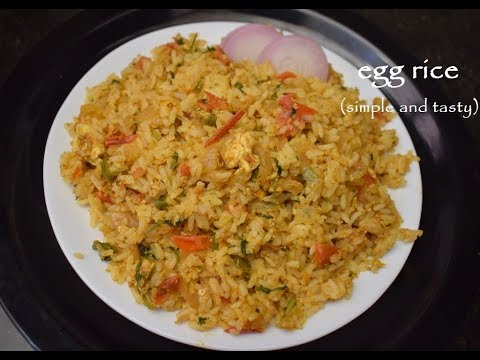 Egg Rice Recipe / Egg Rice in just 10min / Egg Fried Rice Without Sauce / Instant Egg Biryani