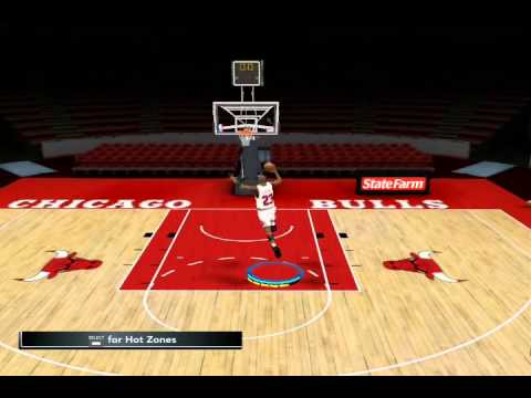 NBA 2k12 How to do Michael Jordan 1080 Dunk [PC]