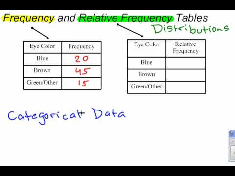 Frequency & Relative Frequency Distributions