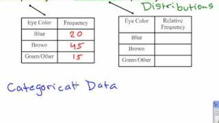 Frequency Relative Frequency Distributions