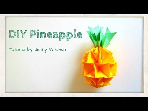 Summer Crafts - DIY How to Make a Pineapple - Red Envelope Origami Paper Crafts