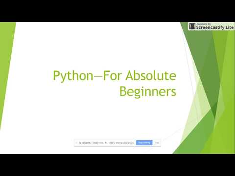 Overview of Python  Programming Language Class 1