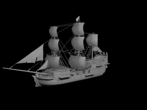 Modeling Pirate ship 3ds max tutorial part - 1