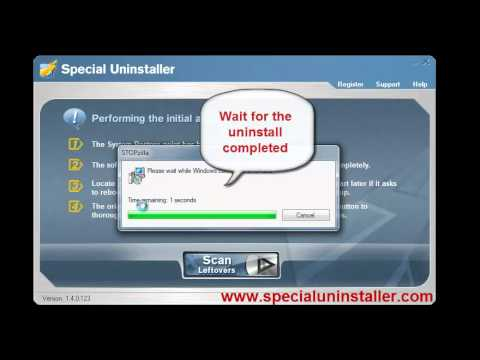 remove & uninstall program with Special Uninstaller