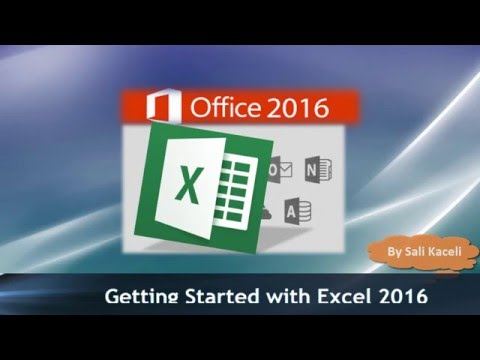 Excel 2016 for the Absolute Beginner - Getting Started