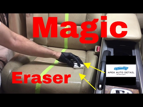 Magic Eraser and how to clean leather seats.