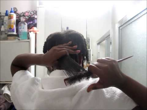 Natural Hair Wash Day: Detangling 4a Hair - Finger Detangling and Seamless Comb