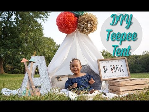 EASY Boho Teepee Tent DIY | Under 10 Minutes