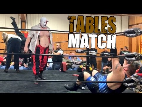 MONSTERS DESTROY YOUTUBERS IN CHAMPIONSHIP TABLES MATCH AT SWF INDY WRESTLING SHOW!
