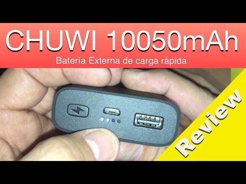 Review CHUWI 10050mAh Batería externa 10000 mAh