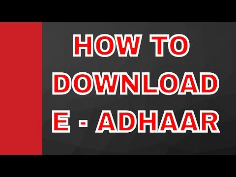 How to download updated E - Adhaar online after corrections/changes in adhaar details