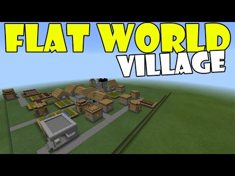 FLAT WORLD VILLAGE | Minecraft PE (Pocket edition) MCPE