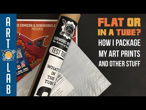 How To Package Your Art Prints (Flat or in Tubes?)