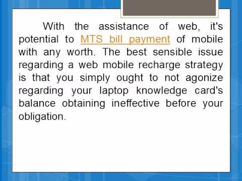 Get MTS Data Card Offers And Online Bill Payment