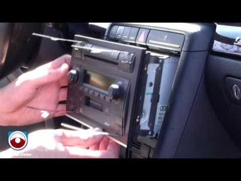 Radio Removal Audi A4 S4 2002-2006 with Symphony II Radio