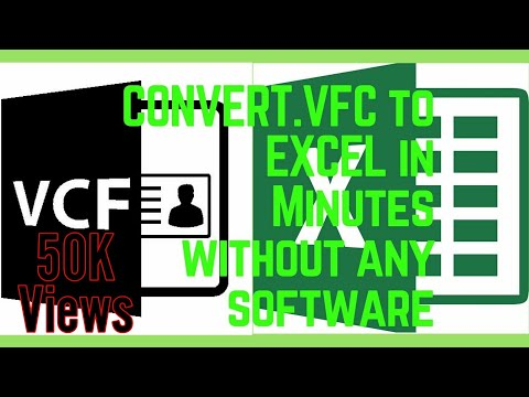How to Convert .VFC File to Excel or .XLS without Need of any Software 2018 | Full Tutorial