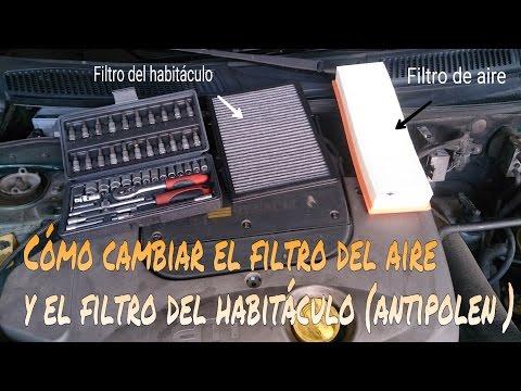 CÓMO CAMBIAR EL FILTRO DEL AIRE Y EL FILTRO DEL HABITÁCULO (ANTIPOLEN)