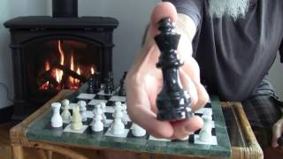 Playing Chess by the Fire: My Marble Chess Set and a 4 and 5 Move Checkmate Sequence [ASMR]