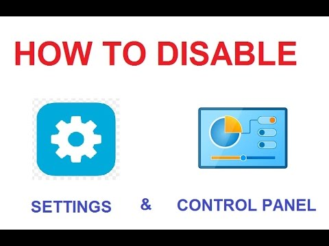 [Windows 8 & Windows 10] How to Prohibit Access Control Panel and PC Settings