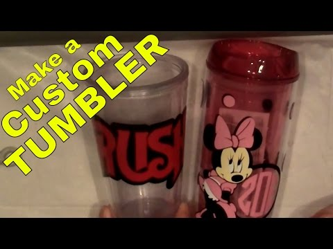 How To Make a Custom Cup or Tumbler With Vinyl Decals-- Scrapping--Silhouette--DIY--Step by Step