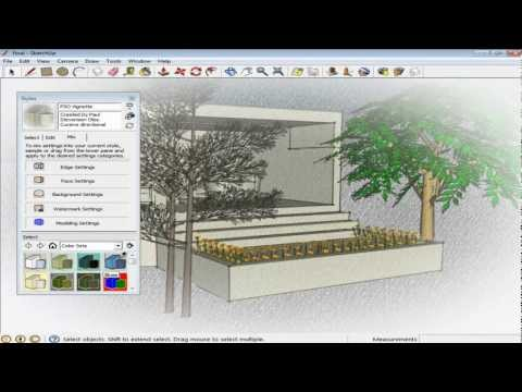 How to apply and edit styles in Google SketchUp