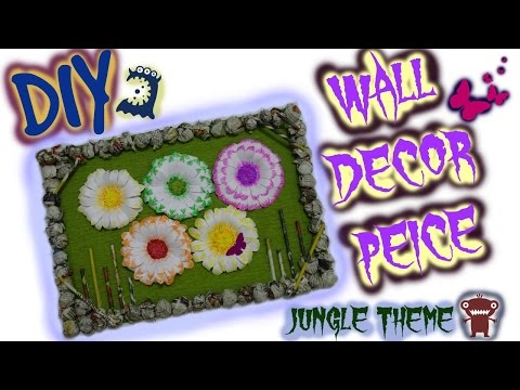 Recycled newspaper Wall decor : Diy jungle theme