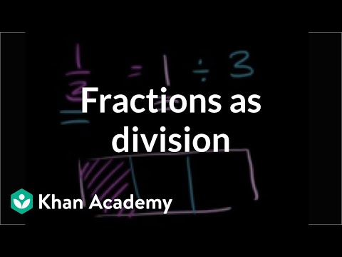 Understanding fractions as division | Fractions | 5th grade | Khan Academy
