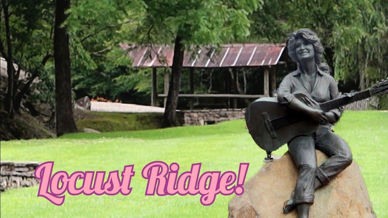 1348 DOLLY PARTON Childhood Home FAMILY CEMETERY & Statue SEVIERVILLE TN - Locust Ridge (8/10/20)